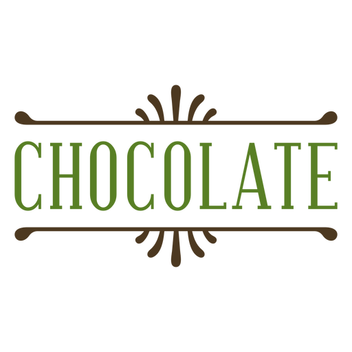 Green chocolate label stroke