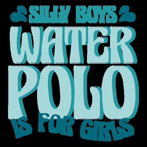 Waterpolo sport girl badge