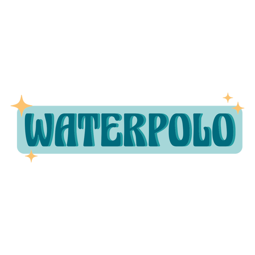 Waterpolo sport sparkly badge