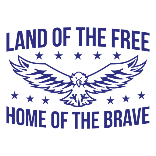 Land of the ffree home of the brave badge