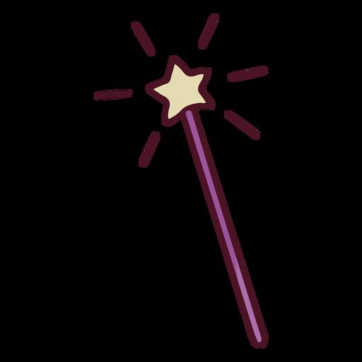 Fairytale magic wand color stroke