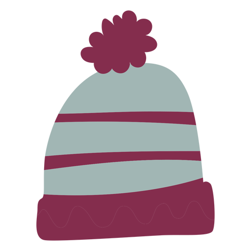 Warm winter hat flat