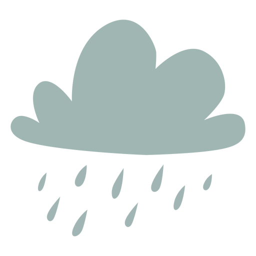 Raining cloud flat