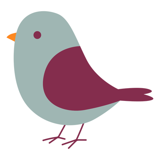 Cute sparrow flat