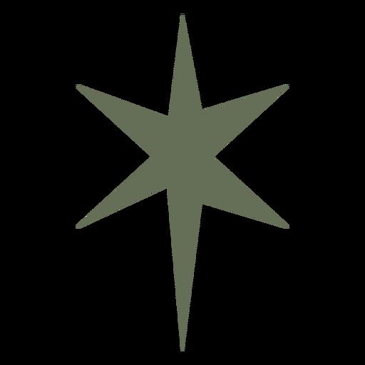 Black star sparkle flat