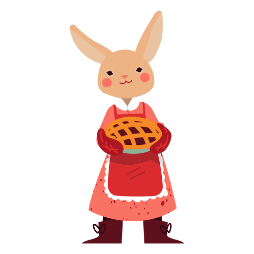 Bunny with a pie cute