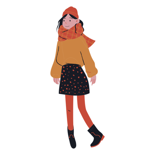 Girl winter clothes flat