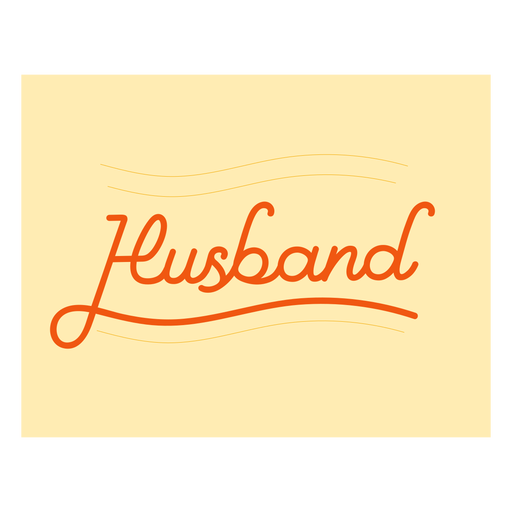 Husband lettering stroke quote