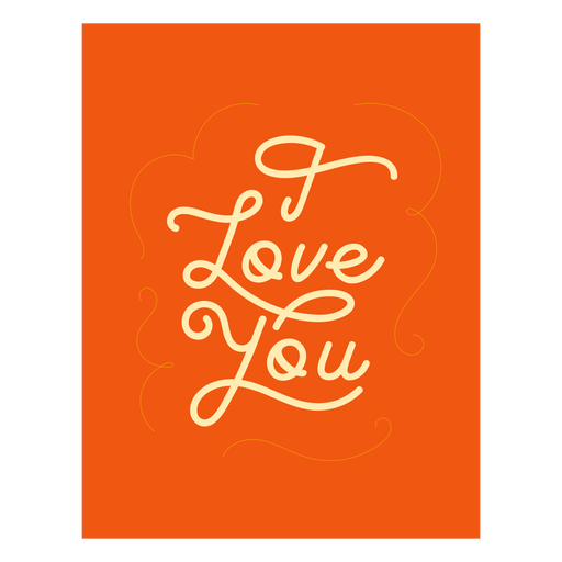 I love you lettering quote element