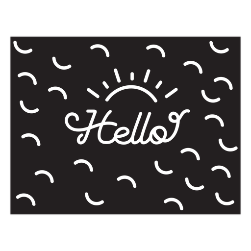 Hello quote cut out element