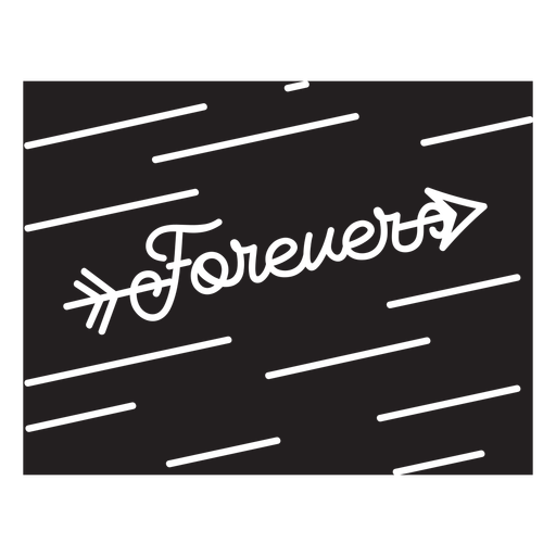 Forever quote lettering cut out