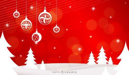 Diseño de fondo serie de navidad