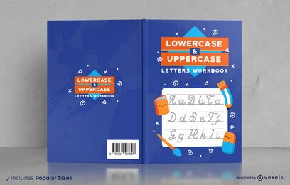 Design da capa da pasta de trabalho de escrita à mão