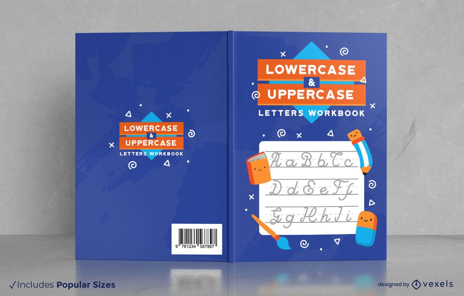 Letter handwriting workbook cover design