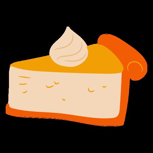 Delicious pumpkin pie flat