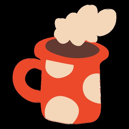 Cute coffee mug flat