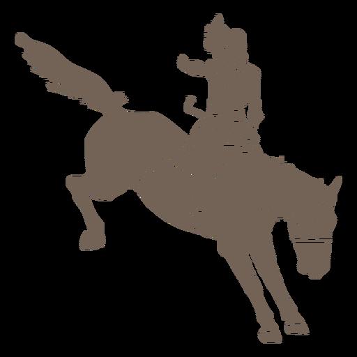Cowboy girl riding a horse cut out