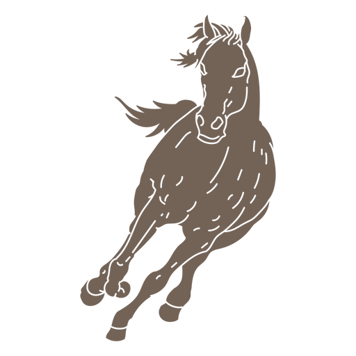Running frontal horse cut out