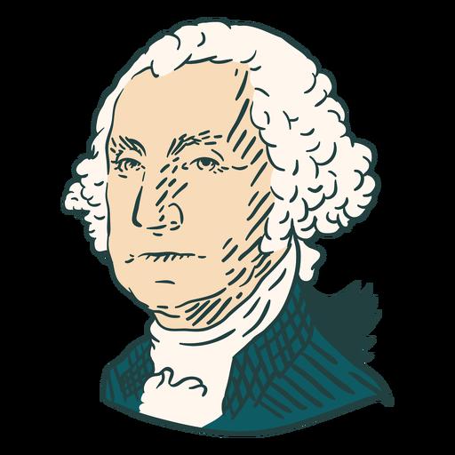 George Washington American illustrations color stroke