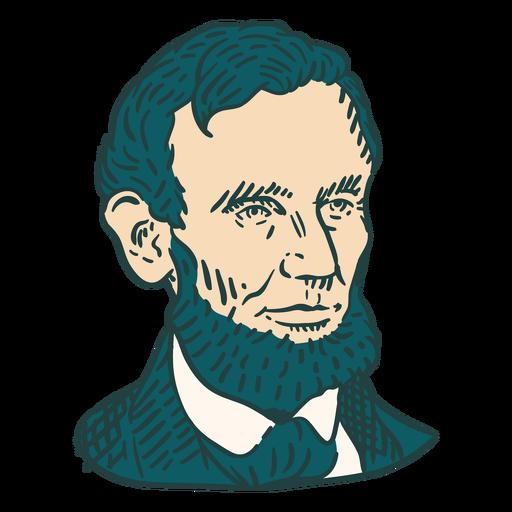 Abraham Lincoln American figures color stroke