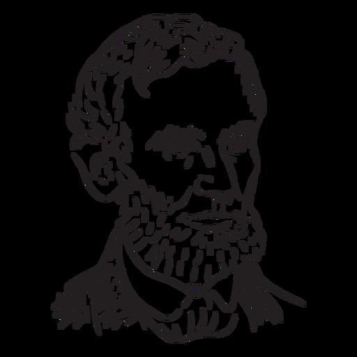 Abraham Lincoln American figures stroke