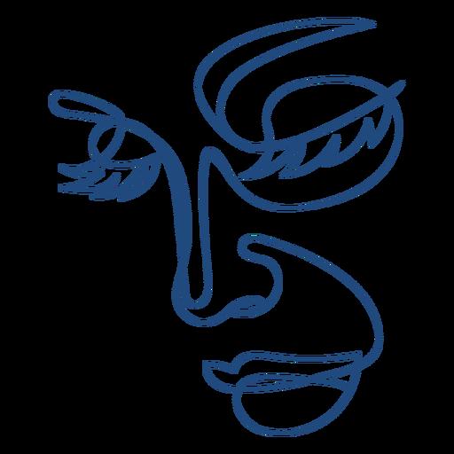 anatom?a-rostro-ContinuousContourLine - 32