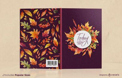 A temporada de outono deixa o design da capa do livro