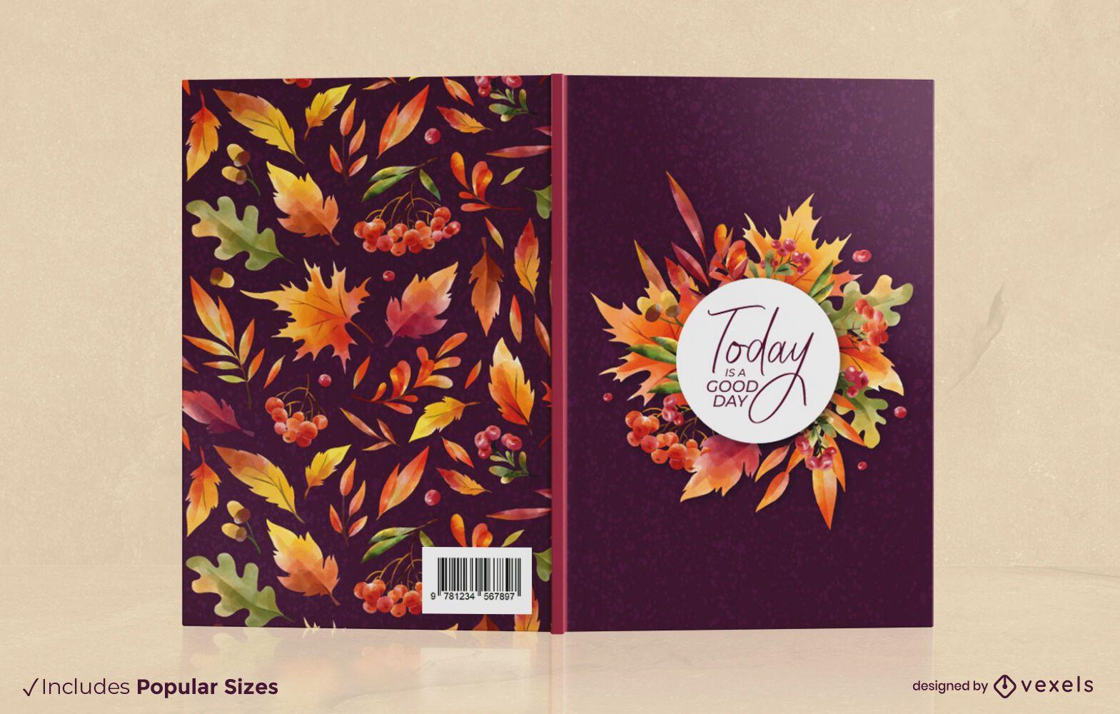 La temporada de otoño deja el diseño de la portada del libro.