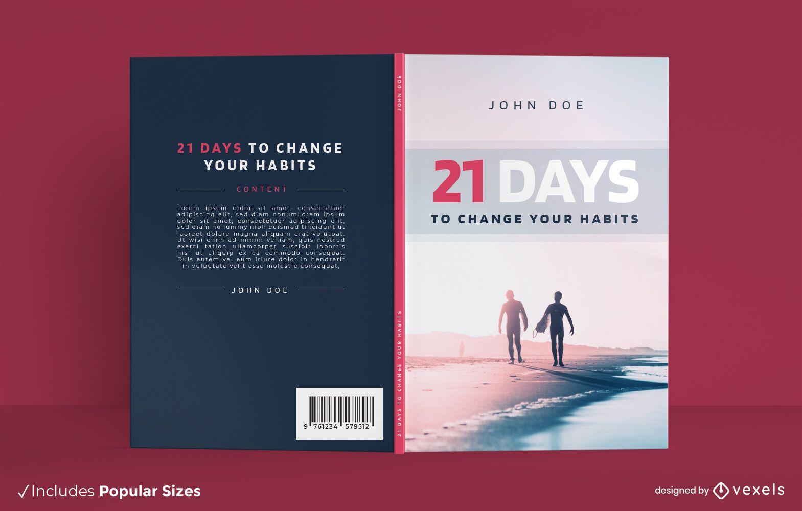 Healthy habits beach book cover design