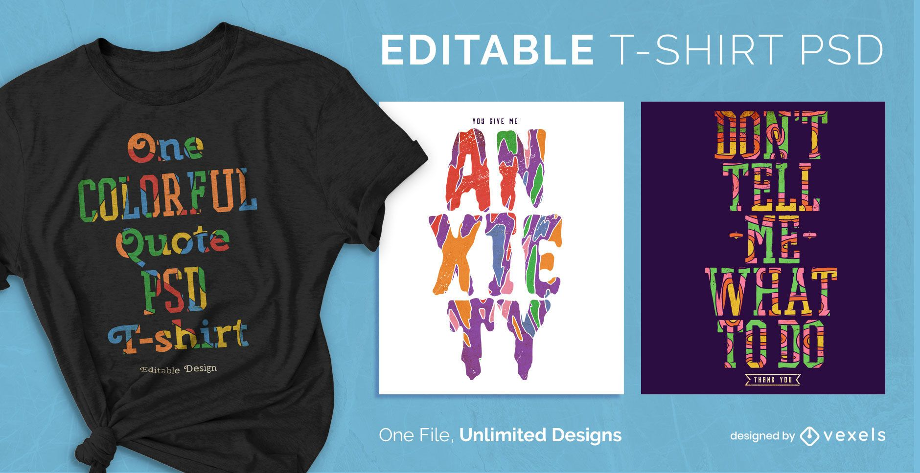 Colorful flat quotes scalable t-shirt design