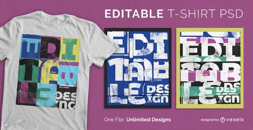 Collage style quote scalable t-shirt design