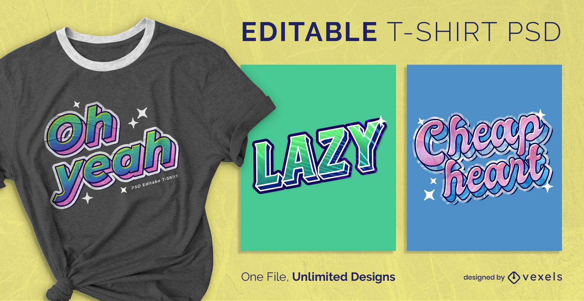 Retro sticker quotes scalable t-shirt psd