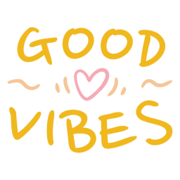 Yellow good vibes quote flat