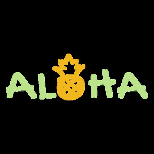 Aloha pineapple quote stroke