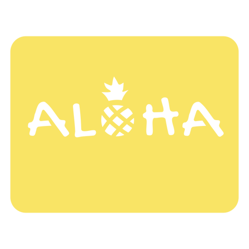 Aloha pineapple quote cut out