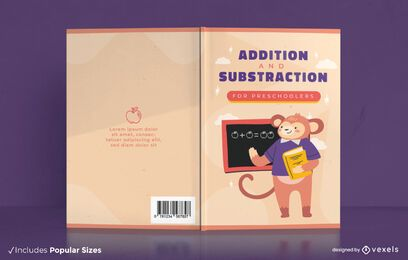 Design da capa do livro de matemática para educação pré-escolar