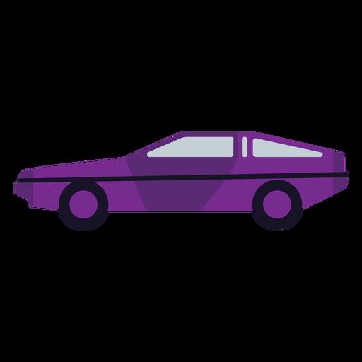 Violet car semi flat