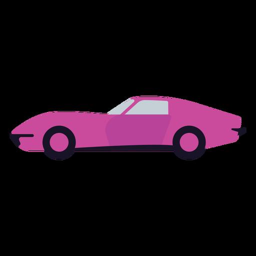 Purple car semi flat