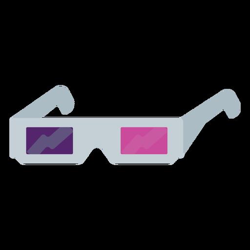 3D glasses semi flat