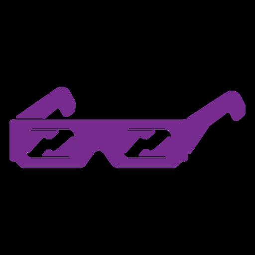 3D movie glasses cut out