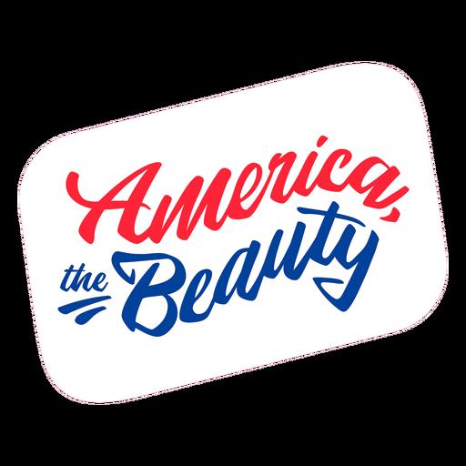 American the beauty sticker lettering