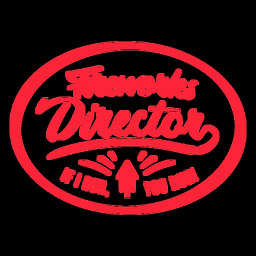 Fireworks director badge