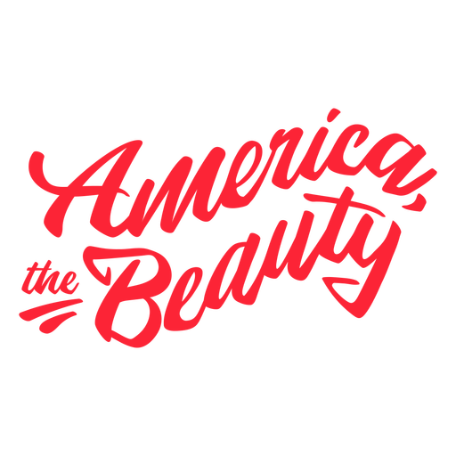 America the beauty