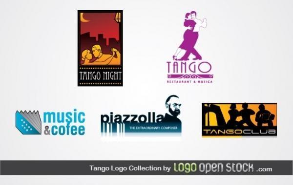 Colección de logos de tango