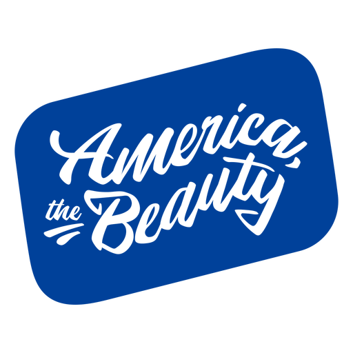 America the beauty cut out