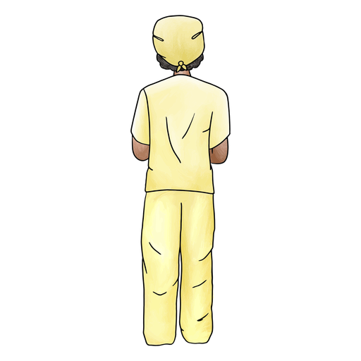 Male nurse color stroke
