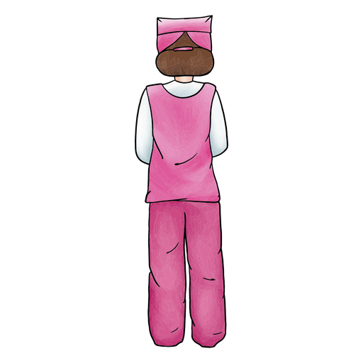 Female nurse color stroke