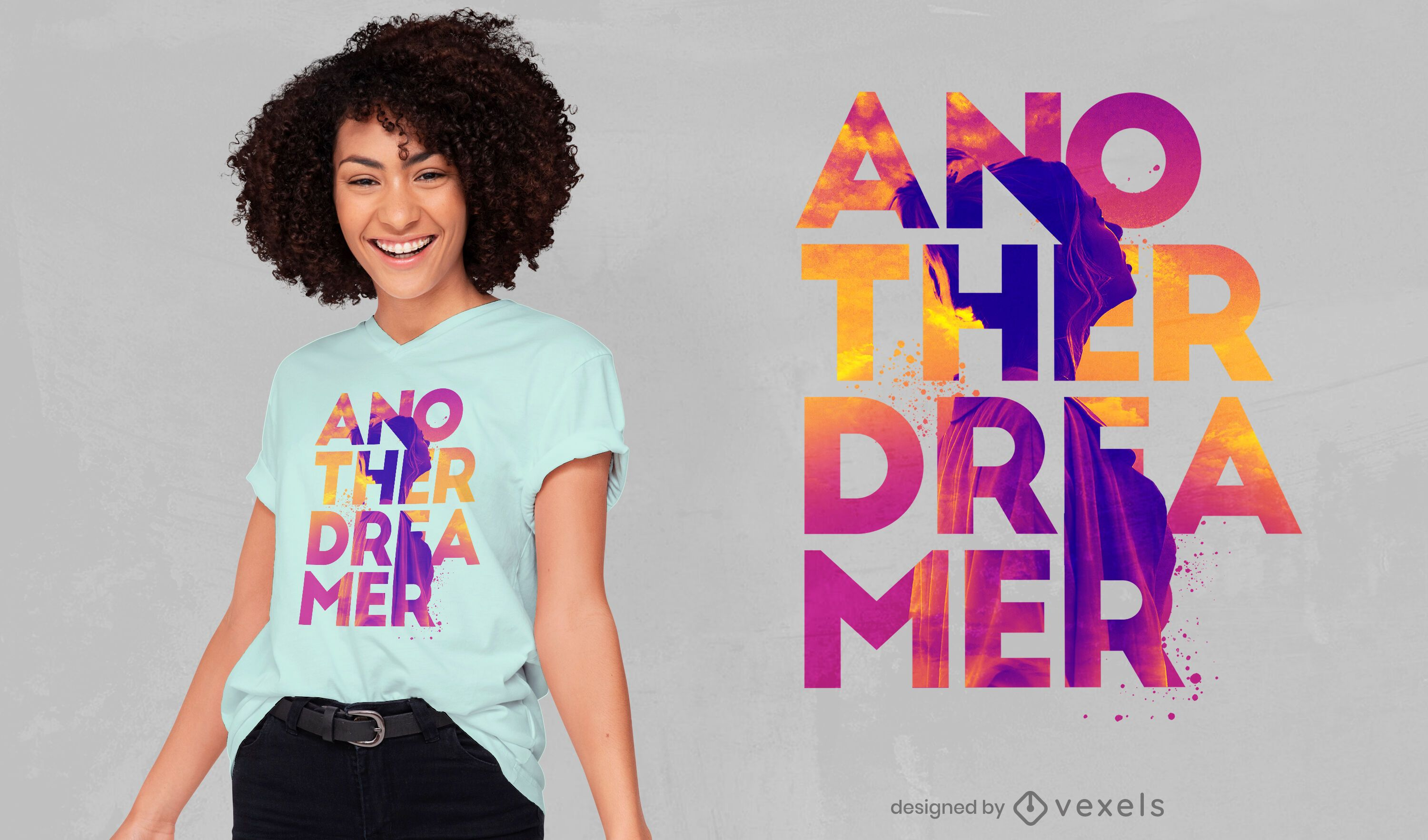 Another dreamer quote psd t-shirt design