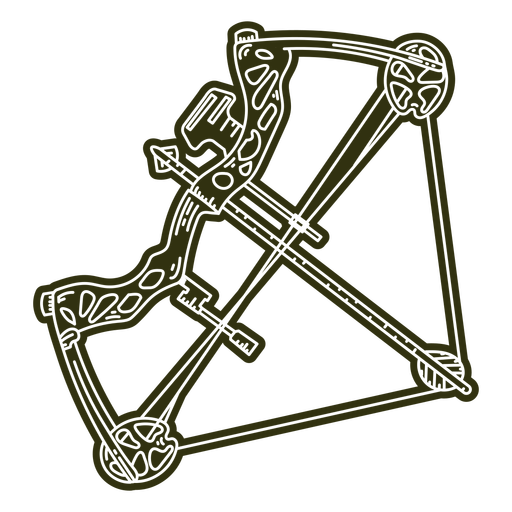 Crossbow weapon equipment cut out