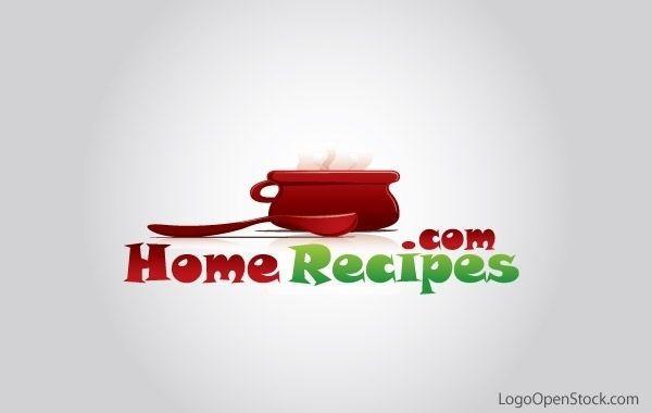 Receitas caseiras e logotipo de culinária